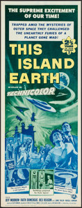 "Movie Posters:Science Fiction, This Island Earth (Universal International, R-1964). Insert (14"" X36""). Science Fiction.. ..."