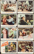 "Movie Posters:Science Fiction, The Time Machine (MGM, 1960). Lobby Card Set of 8 (11"" X 14"").Science Fiction.. ..."