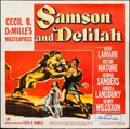 "Movie Posters:Adventure, Samson and Delilah (Paramount, 1949). Six Sheet (79"" X 80"").Adventure.. ..."