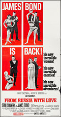 """Movie Posters:James Bond, From Russia with Love (United Artists, 1964). Three Sheet (41"""" X 79"""") Style B. James Bond.. ..."""