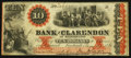 Obsoletes By State:North Carolina, Fayetteville, NC- Bank of Clarendon at Fayetteville $10 Aug. 1, 1861 G10a. ...