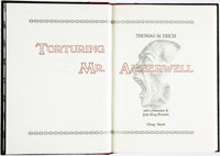 Thomas M. Disch. SIGNED/LIMITED. Torturing Mr. Amberwell. [New Castle, Virginia]: Cheap Street