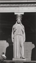 Photographs, Walker Evans (American, 1903-1975). Caryatid, Chicago, 1946. Gelatin silver, printed later. 8-3/4 x 5 inches (22.2 x 12....