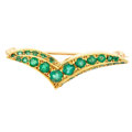 Estate Jewelry:Brooches - Pins, Emerald, Gold Brooch. ...