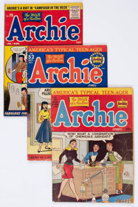 Archie Comics Group of 4 (Archie, 1948-56) Condition: Average GD/VG.... (Total: 4 Comic Books)