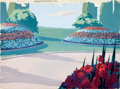 Animation Art:Painted cel background, Fight To The Finish Painted Production Backgrounds Group of2 (Terrytoons, 1947).... (Total: 2 Original Art)