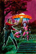 Original Comic Art:Covers, George Wilson UFO Flying Saucers #12 Cover Painting Original Art (Gold Key, 1976)....