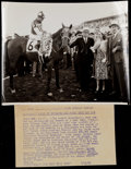 Miscellaneous Collectibles:General, 1938 Seabiscuit Original News Photograph....