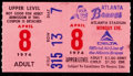 Baseball Collectibles:Tickets, 1974 Hank Aaron 715th Home Run Game Ticket Stub. ...