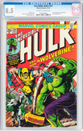 Bronze Age (1970-1979):Superhero, The Incredible Hulk #181 (Marvel, 1974) CGC VF+ 8.5 Off-white to white pages....