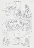 Original Comic Art:Miscellaneous, Mike Collins Uncanny X-Men #266 Preliminary Layout OriginalArt (Marvel, 1990)....
