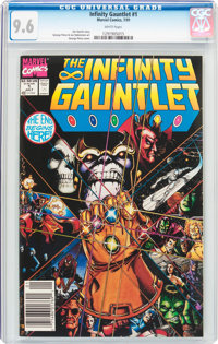 The Infinity Gauntlet #1 (Marvel, 1991) CGC NM+ 9.6 White pages