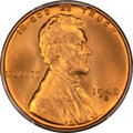 Lincoln Cents: , 1942-S 1C MS67+ Red PCGS. PCGS Population (369/2 and 19/0+). NGC Census: (688/0 and 1/0+). Mintage: 85,590,000. Numismedia ...