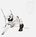 Original Comic Art:Covers, Geof Darrow Shaolin Cowboy Back Cover Original Art(undated)...