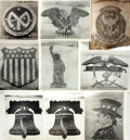 Books:Prints & Leaves, [United States: Living Insignias]. Group of Nine PhotographsDepicting American Living Insignias....
