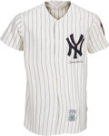 Baseball Collectibles:Uniforms, 1980's Mickey Mantle Signed Mitchell & Ness Jersey. ...