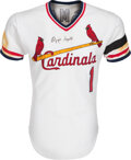 Baseball Collectibles:Uniforms, 1982 Ozzie Smith Game Worn St. Louis Cardinals Jersey. ...