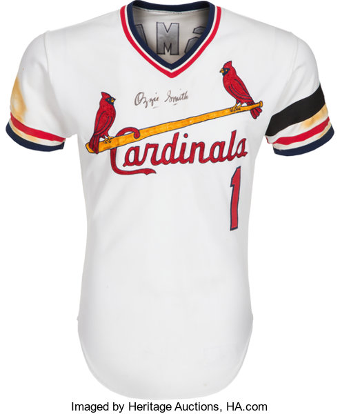 san francisco 26f26 4f857 1982 Ozzie Smith Game Worn St. Louis Cardinals Jersey ...