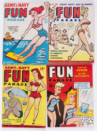 Army and Navy Fun Parade File Copies Box Lot (Fun Parade, 1940s-50s) Condition: Average FN/VF