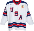 Hockey Collectibles:Uniforms, 2010 Paul Stastny Game Worn United States Olympics HockeyJersey....