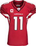 Football Collectibles:Uniforms, 2010 Larry Fitzgerald Game Worn Arizona Cardinals NFC Wildcard Jersey - Used 1/10 Vs. Green Bay....