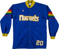 Basketball Collectibles:Uniforms, 1987-88 Denver Nuggets Game Worn Warmup Uniform. ...