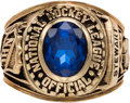 Hockey Collectibles:Others, 1980's Paul Stewart National Hockey League Referee's Ring....