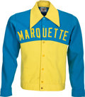 "Basketball Collectibles:Uniforms, 1972-76 Earl Tatum Game Worn Marquette Warriors Warm-up Jacket -Style Made Popular in ESPN Documentary ""Untucked.""..."