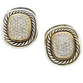 Estate Jewelry:Earrings, Diamond, Gold, Sterling Silver Earrings, David Yurman. ... (Total:2 Items)