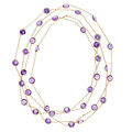 Estate Jewelry:Necklaces, Antique Amethyst, Gold Necklace. ...