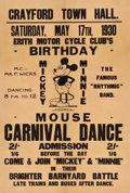 """Movie Posters:Animation, Mickey Mouse Carnival Dance Special Event Poster (Dean's Rag Book,1930). British Double Crown (20"""" X 30"""").. ..."""