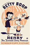"""Movie Posters:Animation, Betty Boop with Henry the Funniest Living American (Paramount, 1935). One Sheet (27"""" X 41"""").. ..."""