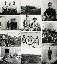[Civil War]. Archive of Approximately 135 Photographs Relating to the Civil War