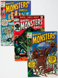Silver Age (1956-1969):Horror, Where Monsters Dwell Group of 34 (Marvel, 1970-75) Condition:Average FN/VF.... (Total: 34 Comic Books)