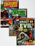 Bronze Age (1970-1979):Horror, Vault of Evil/Where Creatures Roam Group of 18 (Marvel, 1970-74)Condition: Average FN.... (Total: 18 Comic Books)