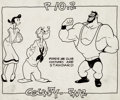 animation art:Model Sheet, Popeye Studio Model Sheets Group of 6 (Famous Studios, c.1940s).... (Total: 6 Original Art)