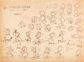 animation art:Model Sheet, The Country Cousin Studio Model Sheets Group of 2 (WaltDisney, 1936).... (Total: 2 Items)