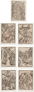 "Books:Prints & Leaves, [Albrecht Dürer, illus]. Collection of Seven Woodcuts fromSebastian Brant's Stultifera Navis. (""Ship of Fools""). ..."