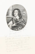 Books:Prints & Leaves, William Faithorne. Portrait of a Gentleman. [Only knownperfect copy]. England: circa 1640-1645....