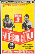 """Movie Posters:Sports, Floyd Patterson vs. George Chuvalo (1965). Boxing Poster (13.75"""" X 21.25""""). Sports.. ..."""