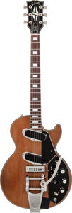 Musical Instruments:Electric Guitars, 1973 Gibson Les Paul Recording Walnut Solid Body Electric Guitar, Serial # 00111393....