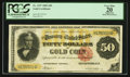 Large Size:Gold Certificates, Fr. 1197 $50 1882 Gold Certificate PCGS Apparent Very Fine 20.. ...