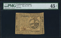 Continental Currency May 10, 1775 $2 PMG Choice Extremely Fine 45 Net