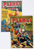 Golden Age (1938-1955):Science Fiction, Planet Comics #28 and 62 Group (Fiction House, 1944-52).... (Total:2 Comic Books)