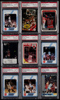 Basketball Cards:Lots, 1988-91 Multi-Brand Michael Jordan PSA Graded Collection (9)....