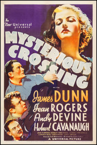 """Mysterious Crossing (Universal, 1936). One Sheet (27"""" X 41""""). Crime"""