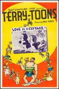 "Movie Posters:Animation, Terry-Toon Cartoons (20th Century Fox, 1940). Stock One Sheet (27"" X 41"") ""Love in a Cottage."" Animation.. ..."