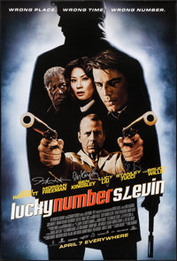 """Lucky Number Slevin (MGM, 2006). Autographed One Sheet (26.75"""" X 40"""") DS Advance. Crime"""