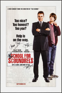 """School for Scoundrels (MGM, 2006). Autographed One Sheet (27"""" X 40"""") DS Advance. Comedy"""