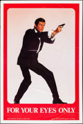"Movie Posters:James Bond, For Your Eyes Only (Grezon, 1981). One Sheet (27"" X 41"") Special Advance Roger Moore Style. James Bond.. ..."
